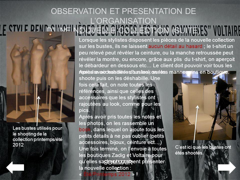 OBSERVATION ET PRESENTATION DE L'ORGANISATION