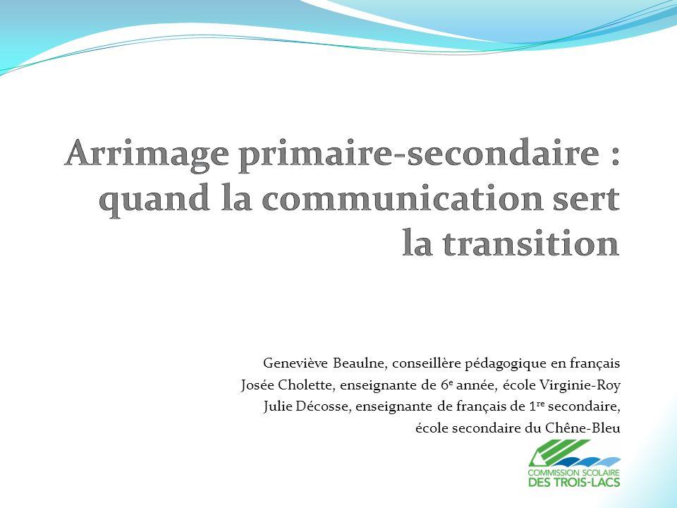 Arrimage primaire-secondaire : quand la communication sert la transition