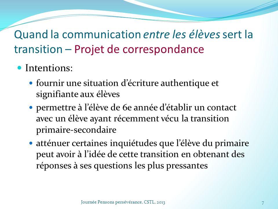 Quand la communication entre les élèves sert la transition – Projet de correspondance