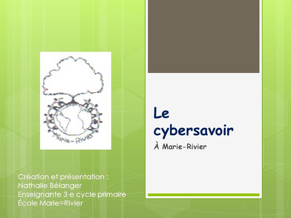 Le cybersavoir À Marie-Rivier Création et présentation :