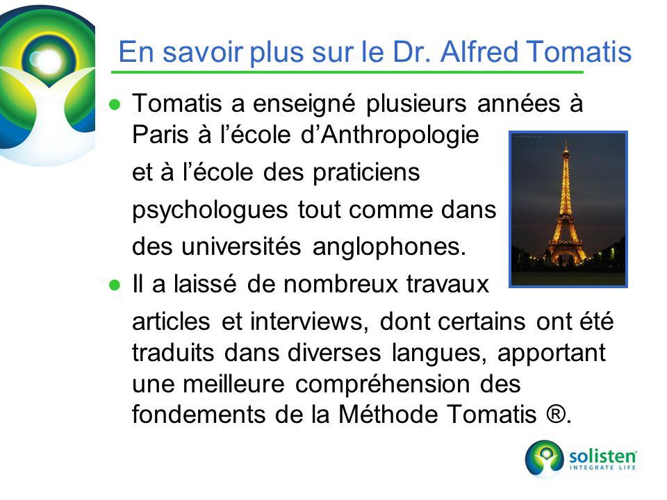 En savoir plus sur le Dr. Alfred Tomatis