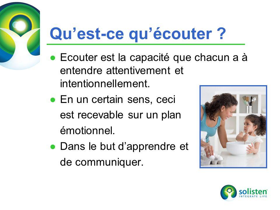 Qu'est-ce qu'écouter Ecouter est la capacité que chacun a à entendre attentivement et intentionnellement.