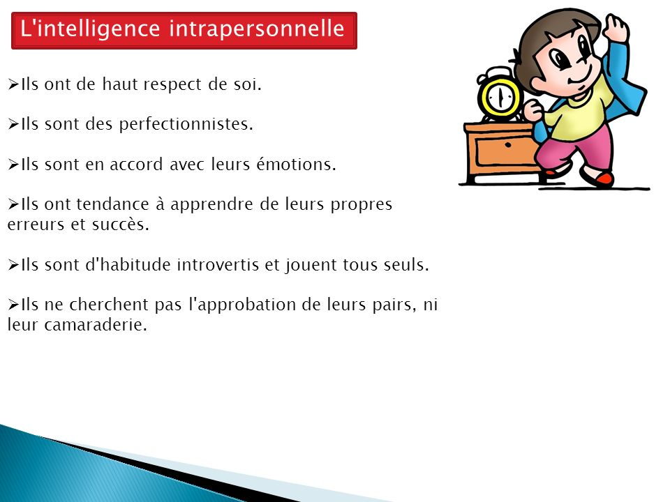 L intelligence intrapersonnelle
