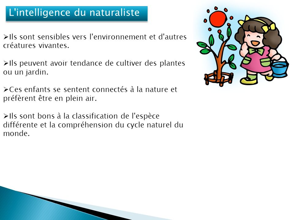 L intelligence du naturaliste