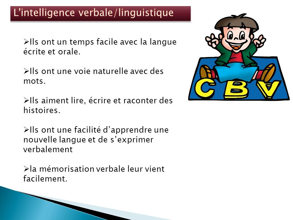 L intelligence verbale/linguistique