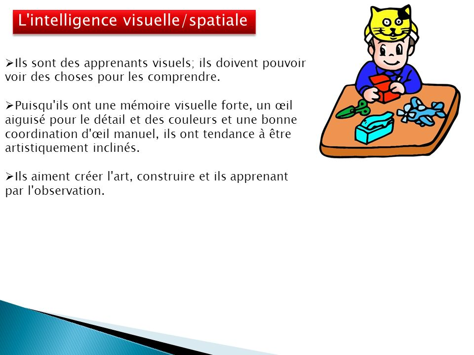 L intelligence visuelle/spatiale