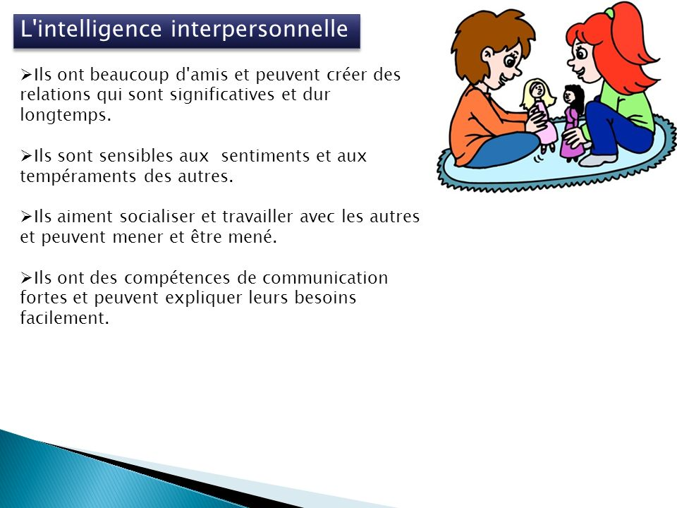 L intelligence interpersonnelle