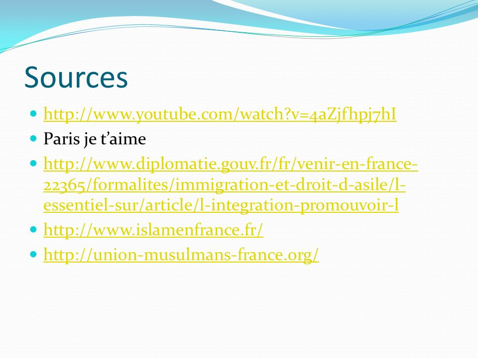 Sources http://www.youtube.com/watch v=4aZjfhpj7hI Paris je t'aime