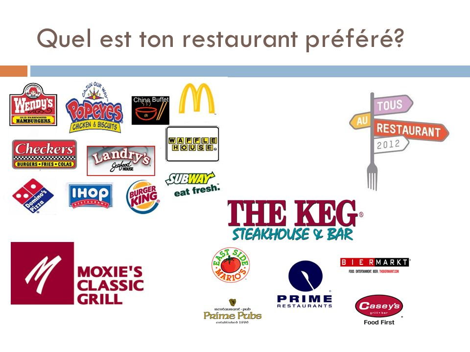 Quel est ton restaurant préféré