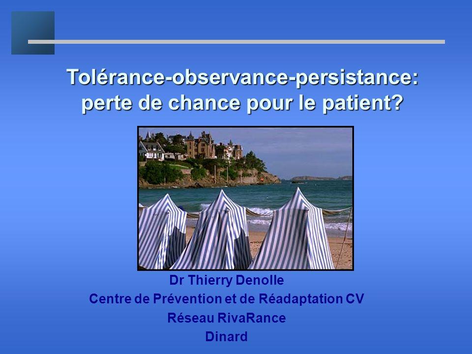 Tolérance-observance-persistance: perte de chance pour le patient