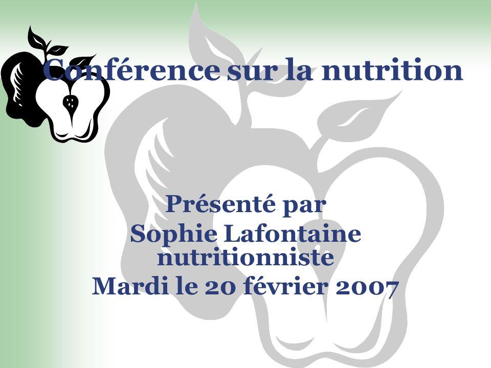 Conférence sur la nutrition