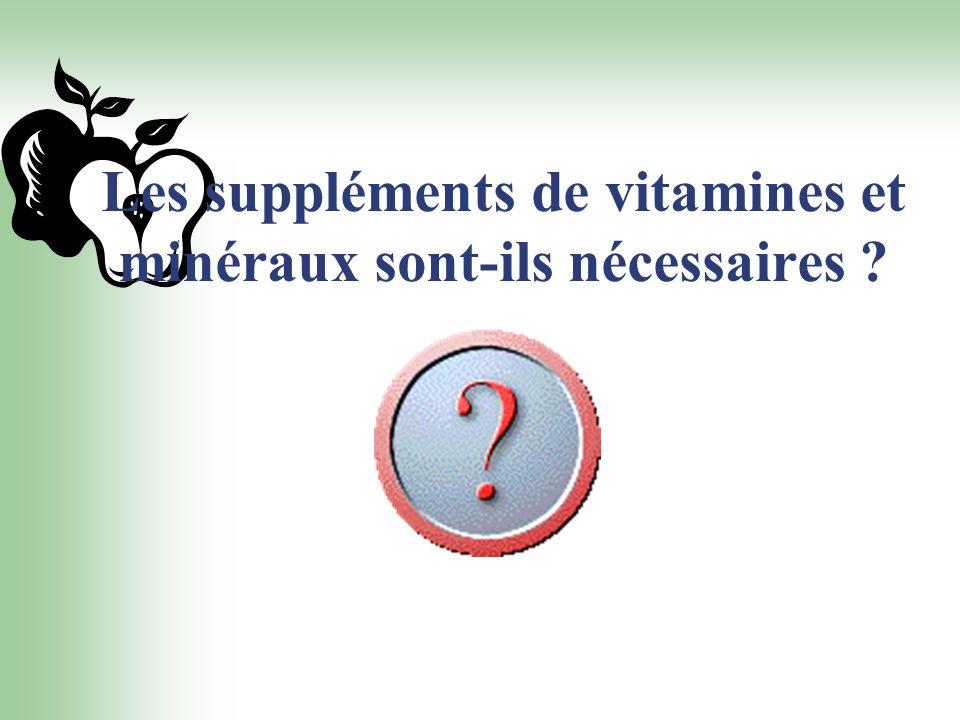 Les suppléments de vitamines et minéraux sont-ils nécessaires
