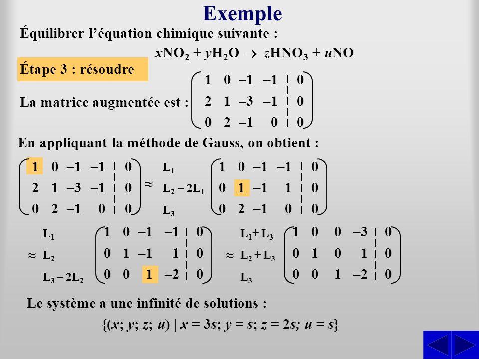 {(x; y; z; u) | x = 3s; y = s; z = 2s; u = s}