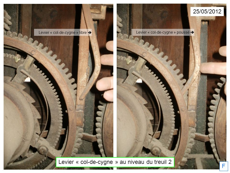 Levier « col-de-cygne » au niveau du treuil 2