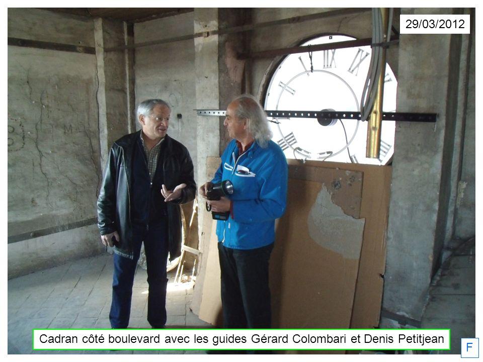 29/03/2012 Cadran côté boulevard avec les guides Gérard Colombari et Denis Petitjean F