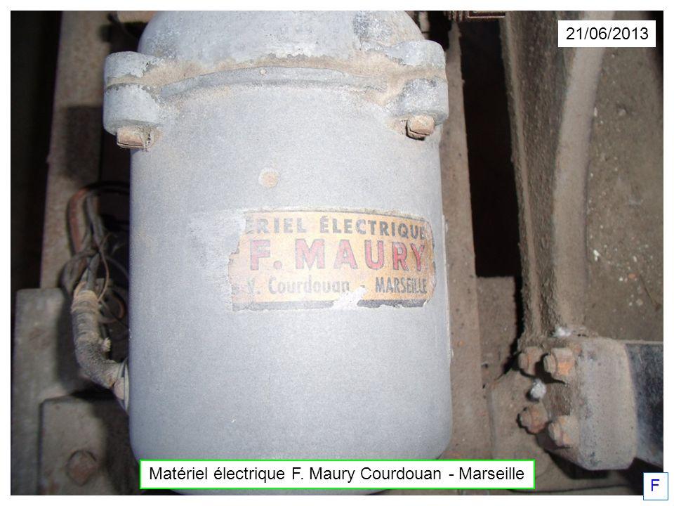 Matériel électrique F. Maury Courdouan - Marseille