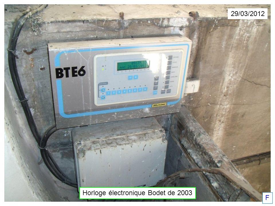 Horloge électronique Bodet de 2003