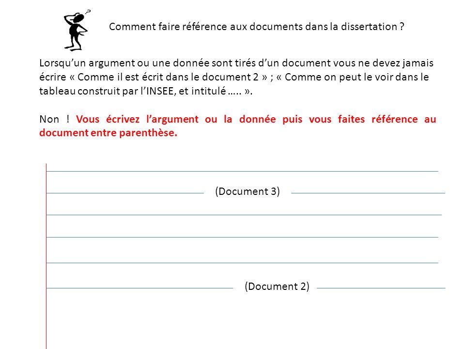 Comment faire référence aux documents dans la dissertation