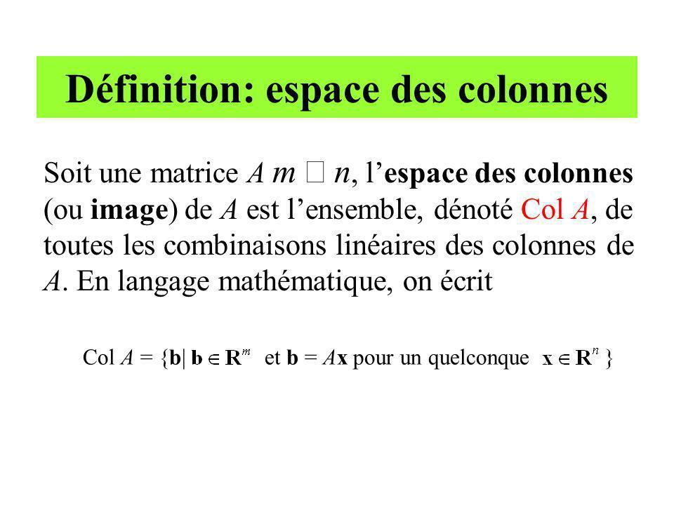 Définition: espace des colonnes