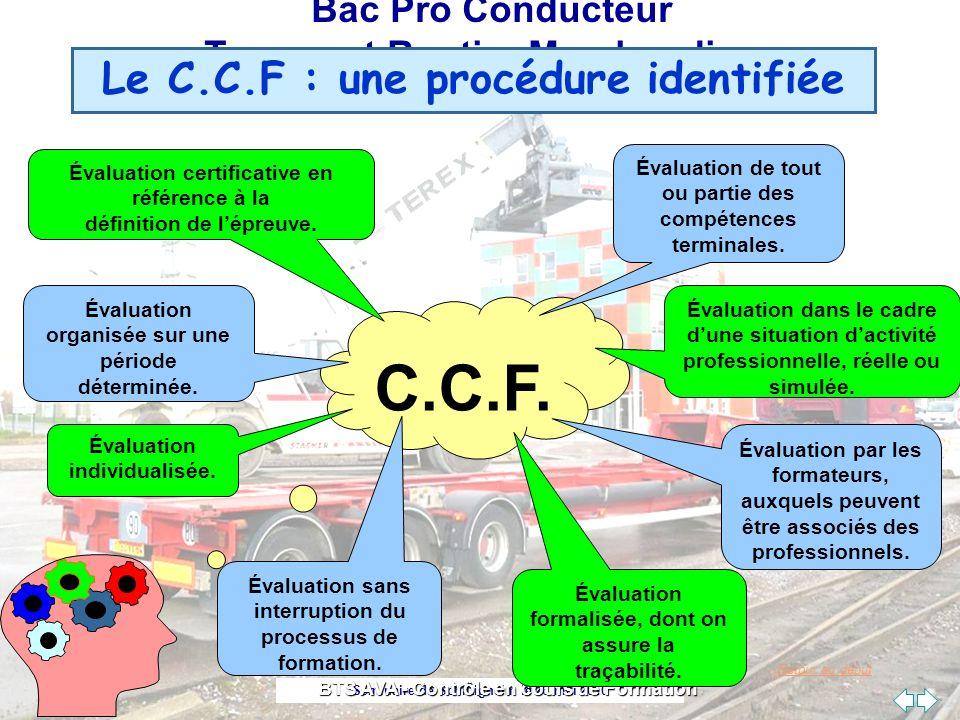 C.C.F. Le C.C.F : une procédure identifiée