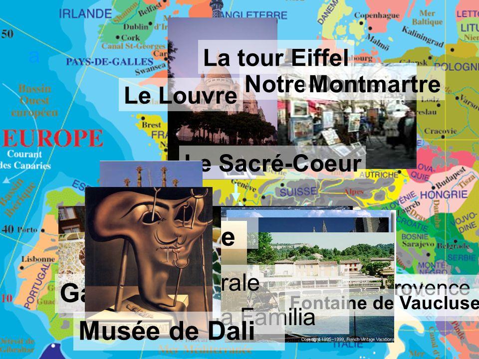 Barcelone Gaudi Musée de Dali La tour Eiffel Notre-Dame Montmartre