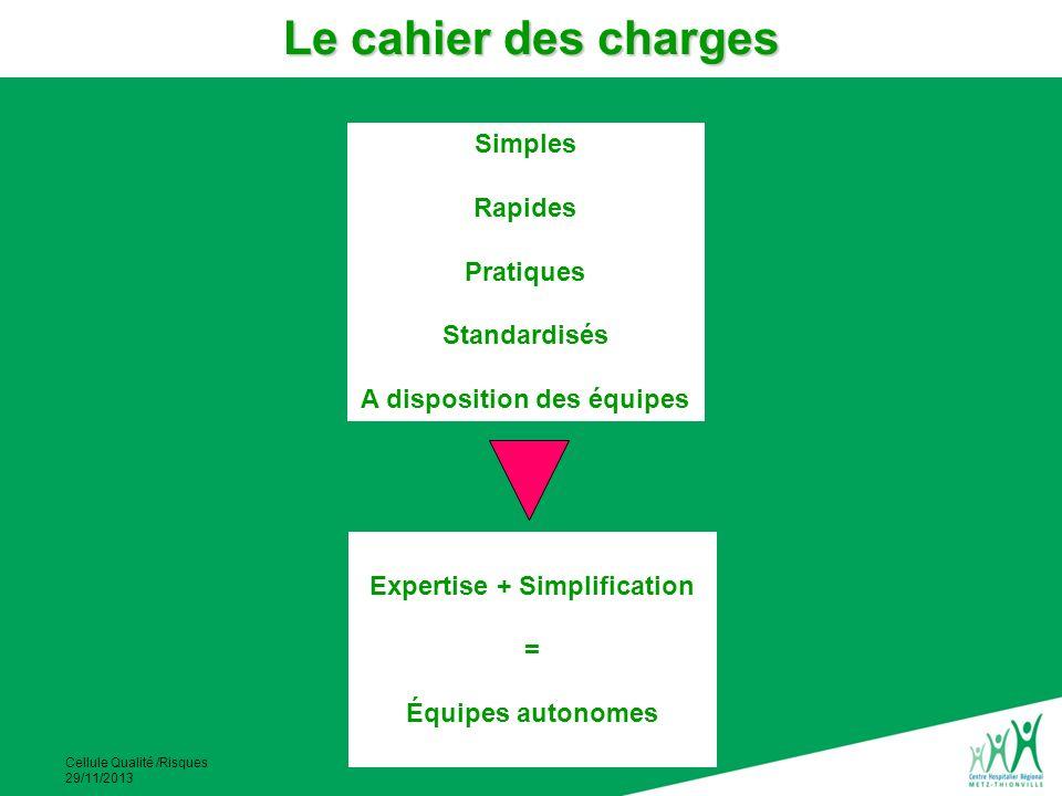 A disposition des équipes Expertise + Simplification