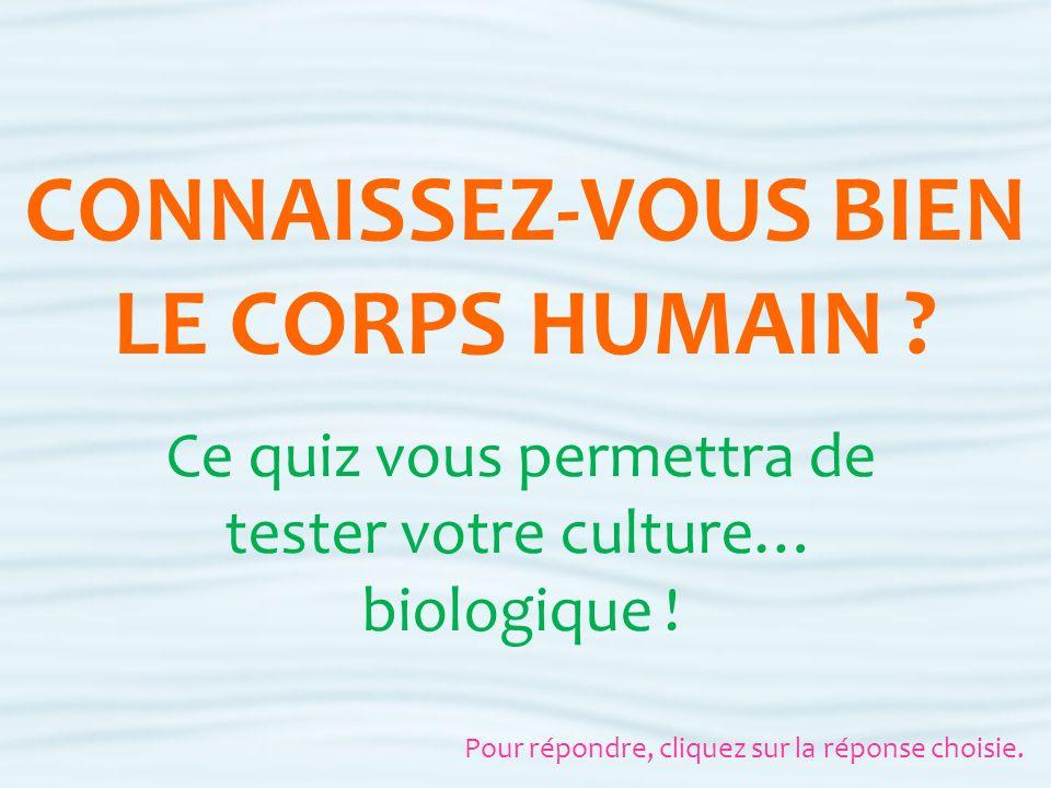 CONNAISSEZ-VOUS BIEN LE CORPS HUMAIN