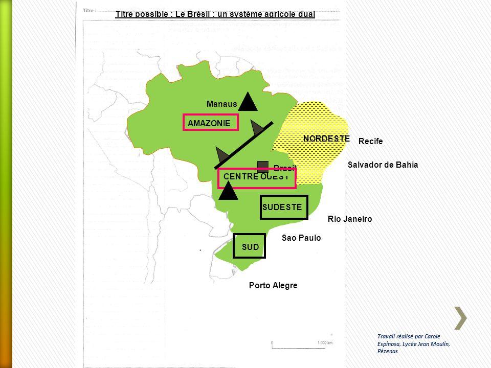 Titre possible : Le Brésil : un système agricole dual