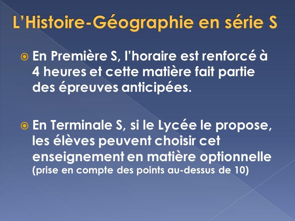 L'Histoire-Géographie en série S