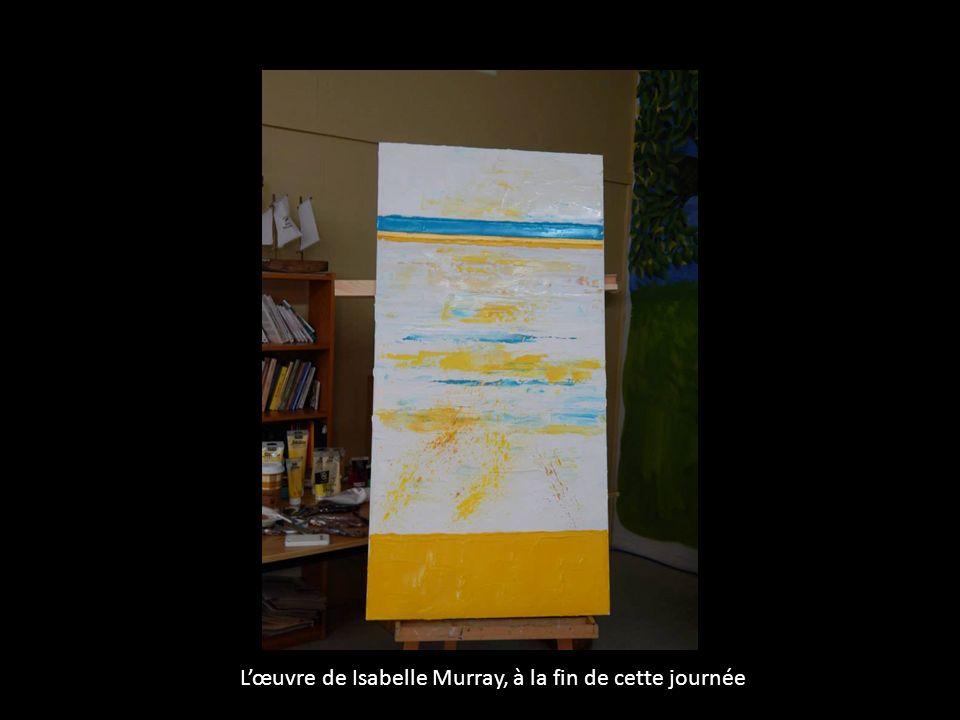 L'œuvre de Isabelle Murray, à la fin de cette journée