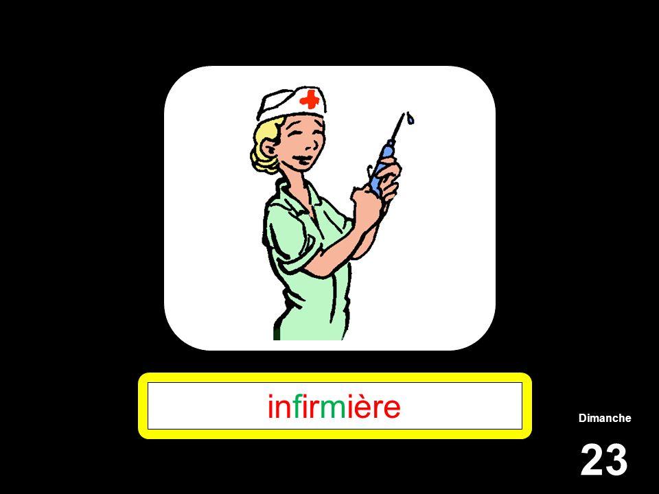 infirmière Dimanche 23
