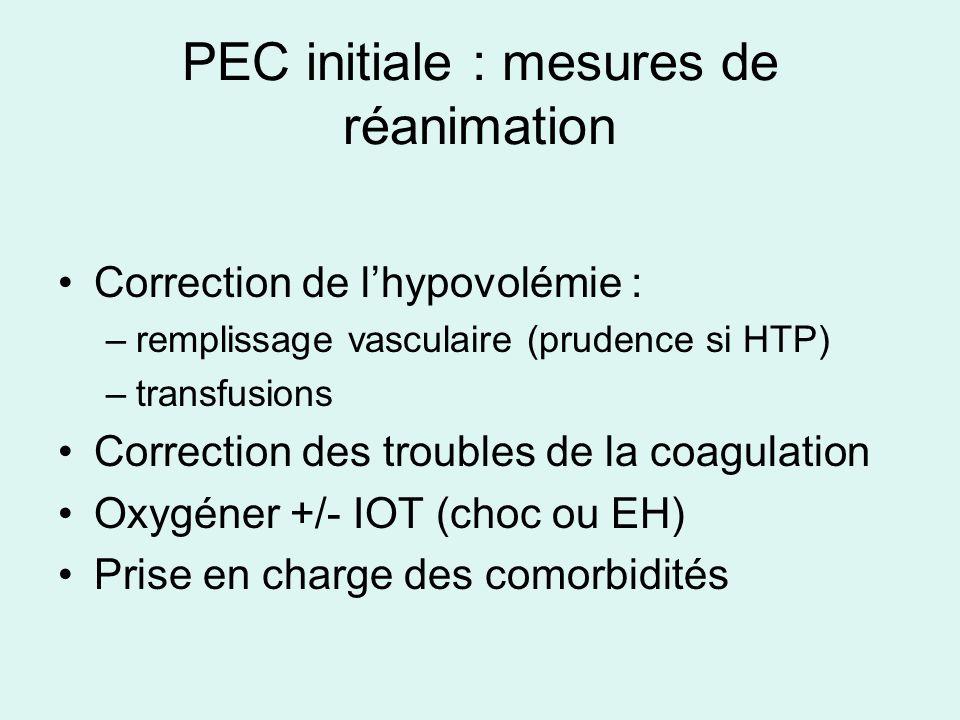 PEC initiale : mesures de réanimation