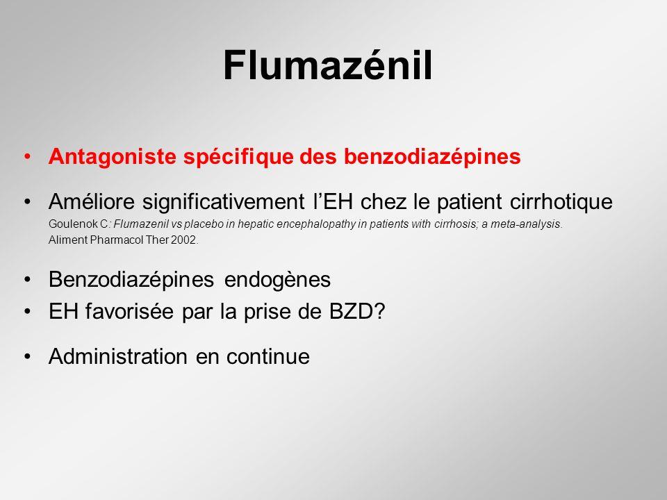 Flumazénil Antagoniste spécifique des benzodiazépines