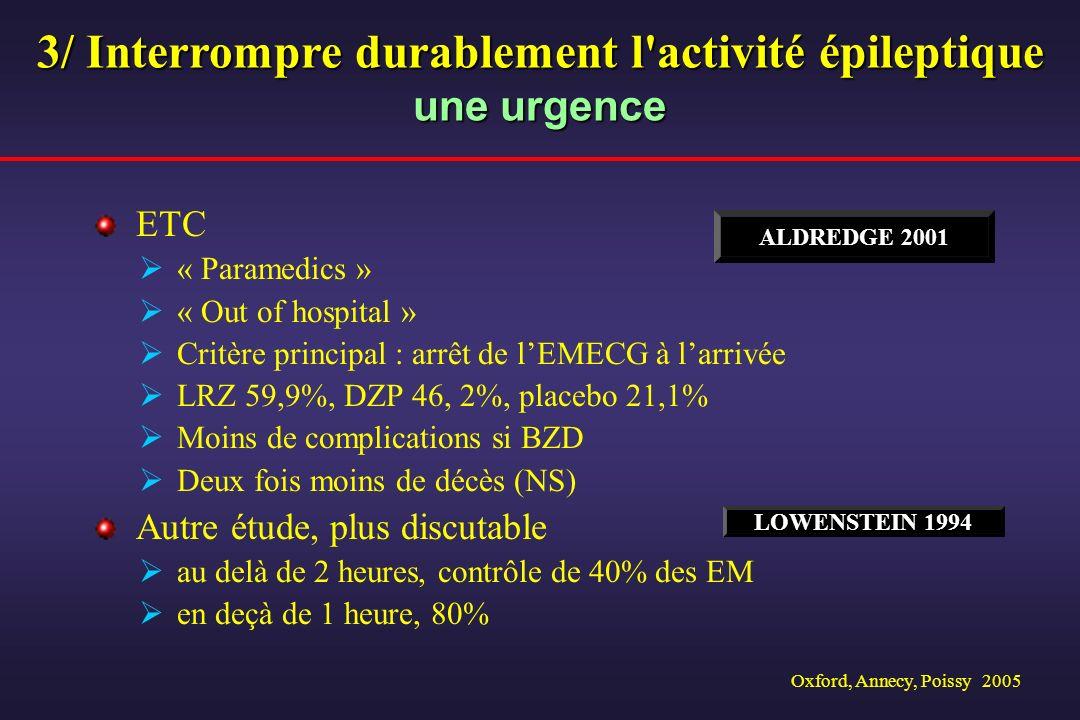 3/ Interrompre durablement l activité épileptique une urgence