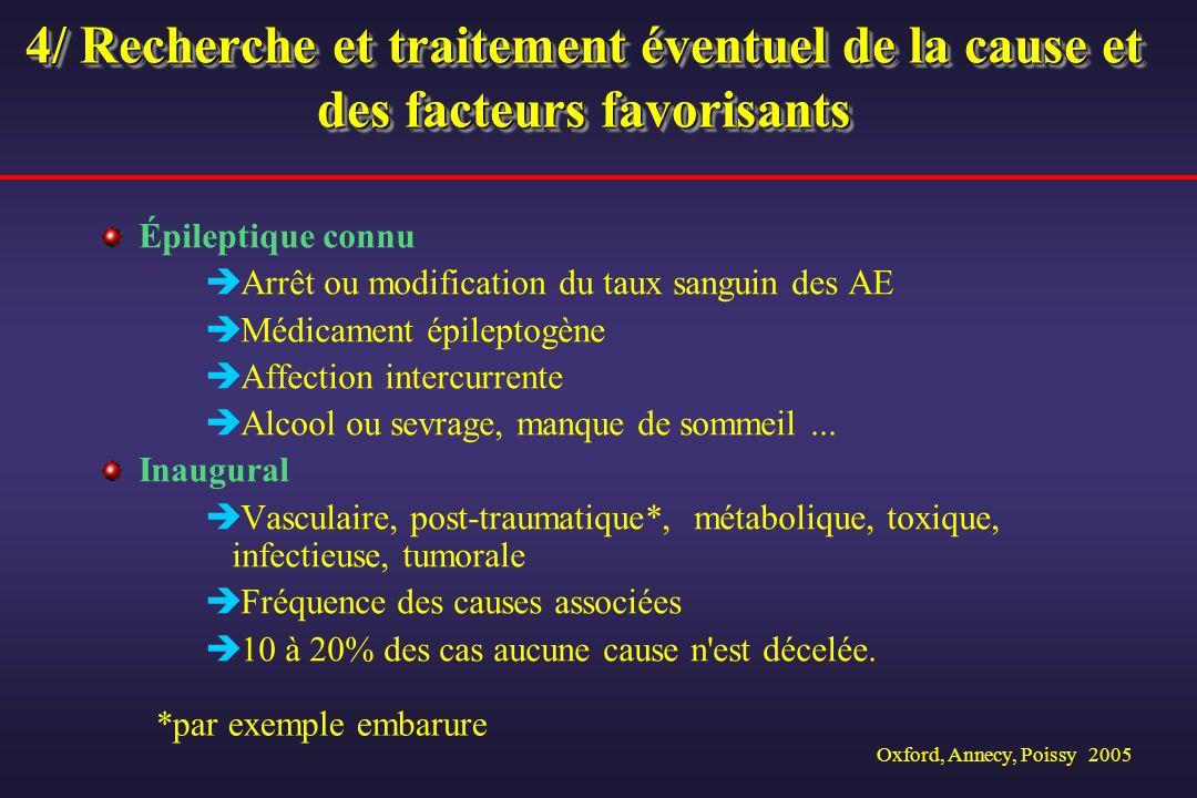 4/ Recherche et traitement éventuel de la cause et des facteurs favorisants