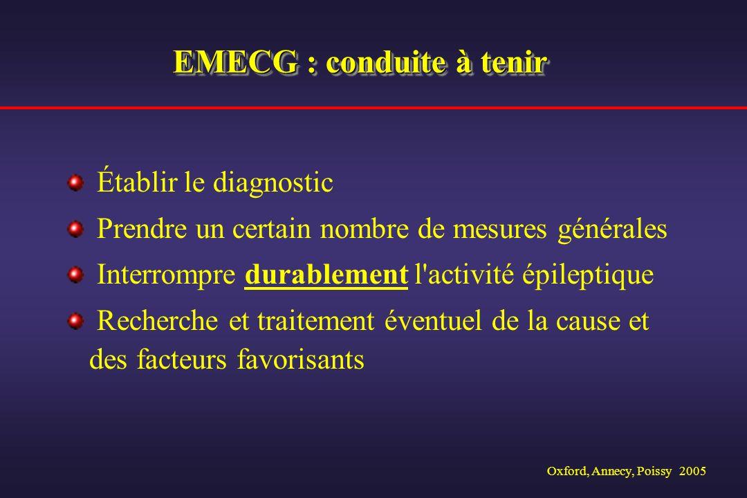 EMECG : conduite à tenir