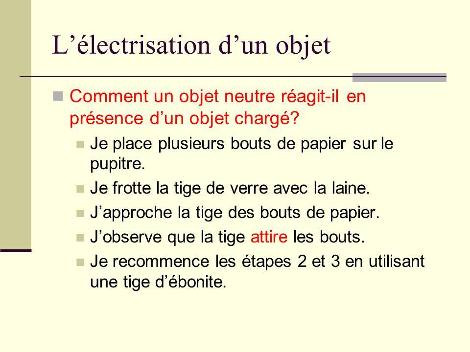 L'électrisation d'un objet