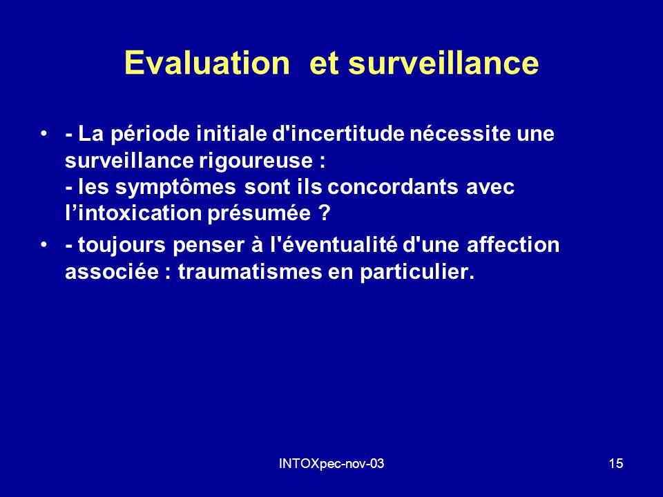 Evaluation et surveillance