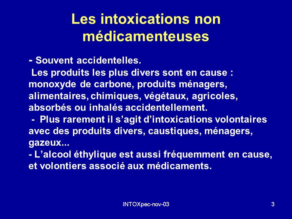 Les intoxications non médicamenteuses
