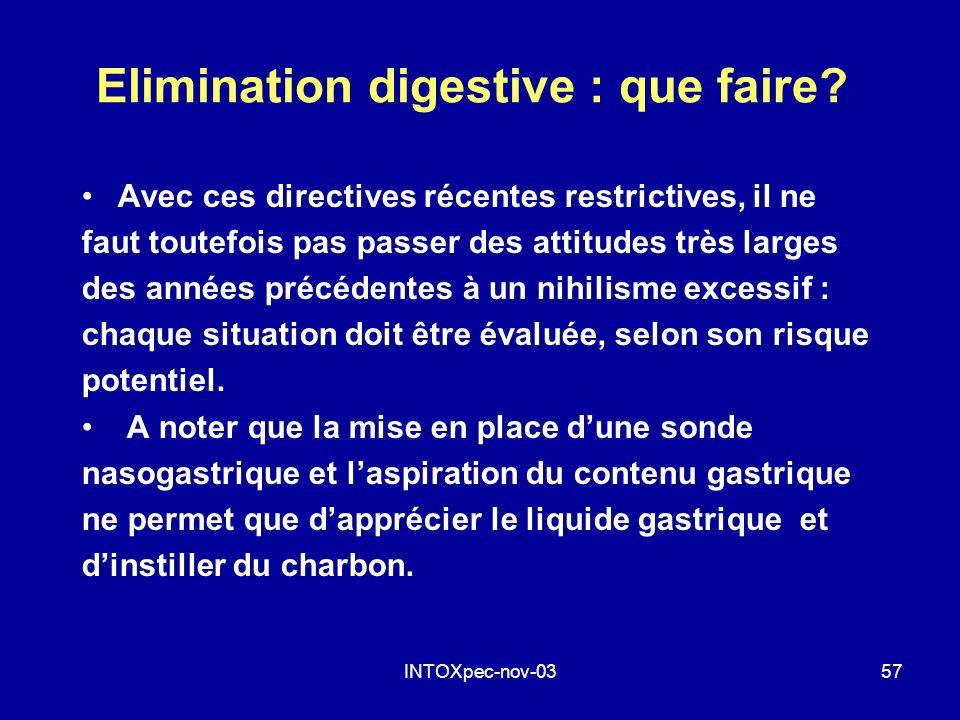 Elimination digestive : que faire