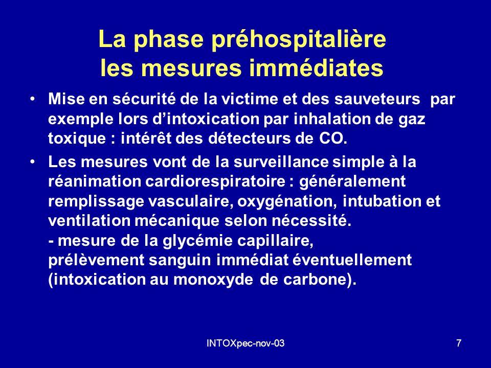 La phase préhospitalière les mesures immédiates