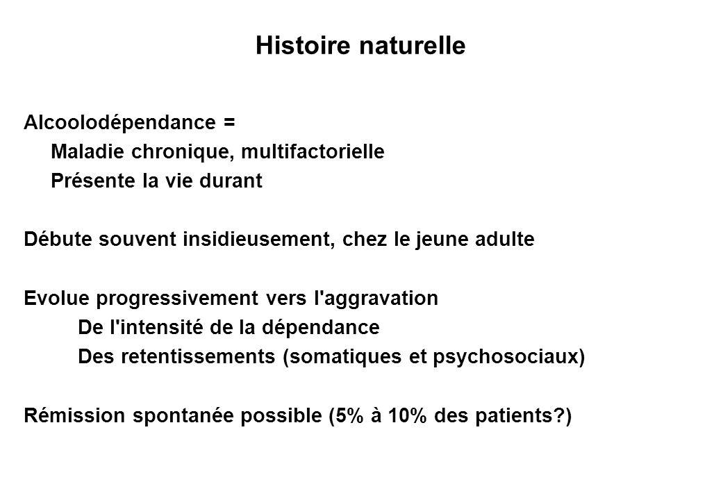 Histoire naturelle Alcoolodépendance =