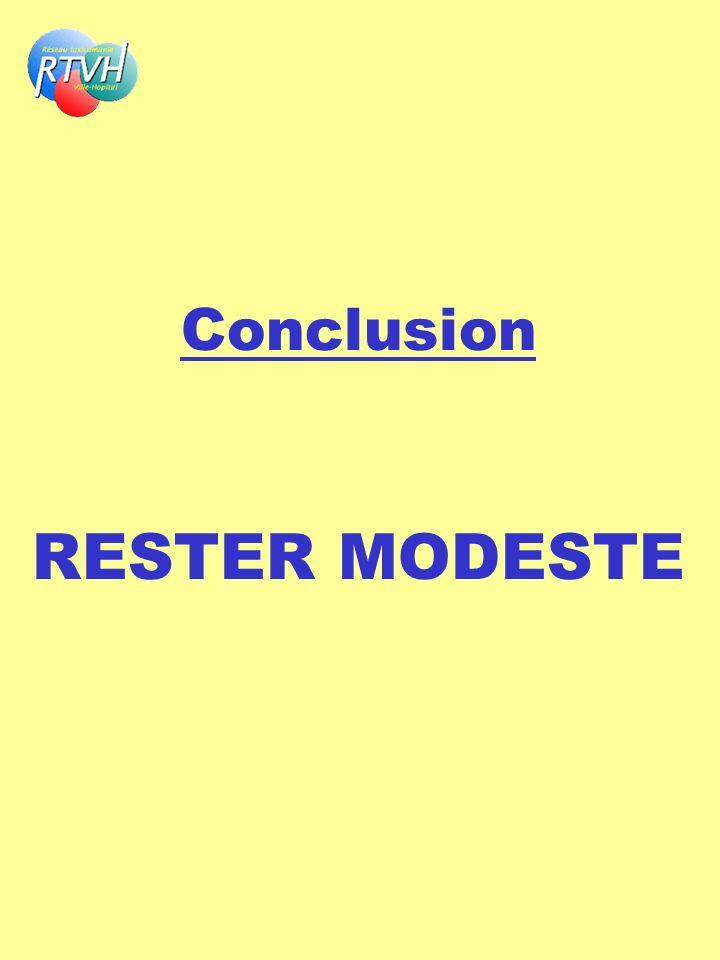 Conclusion RESTER MODESTE