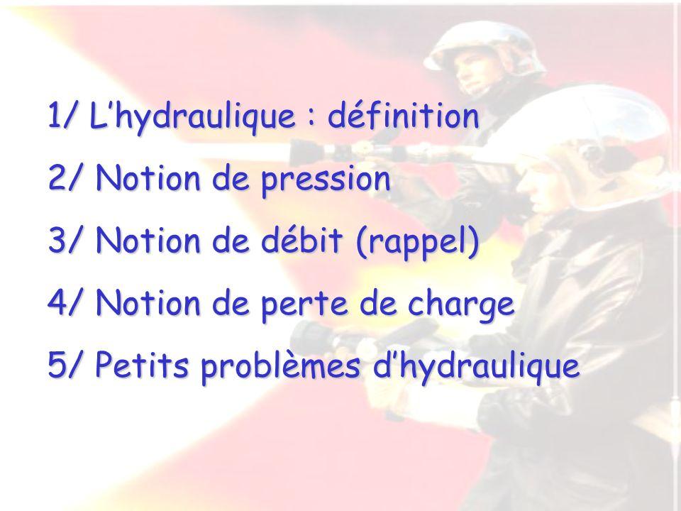 1/ L'hydraulique : définition