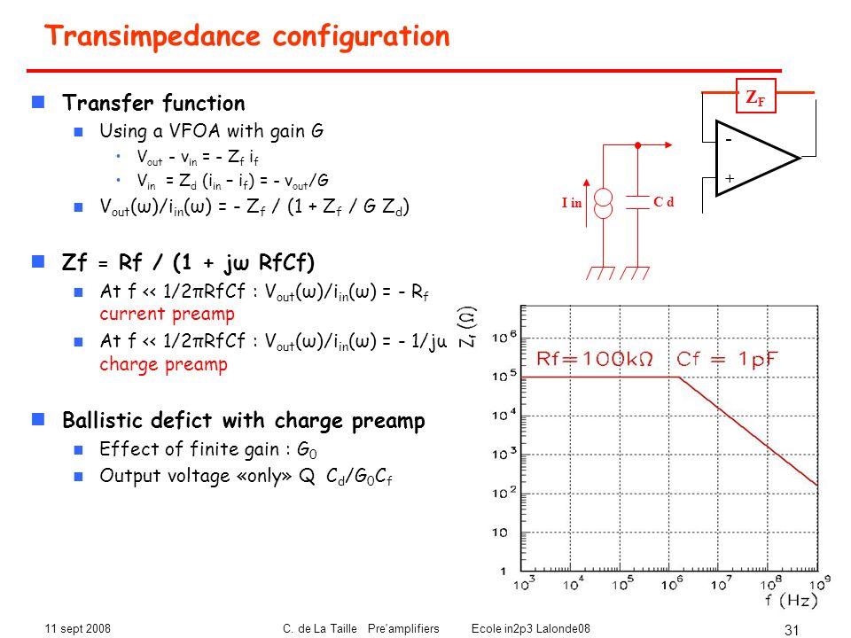 Transimpedance configuration