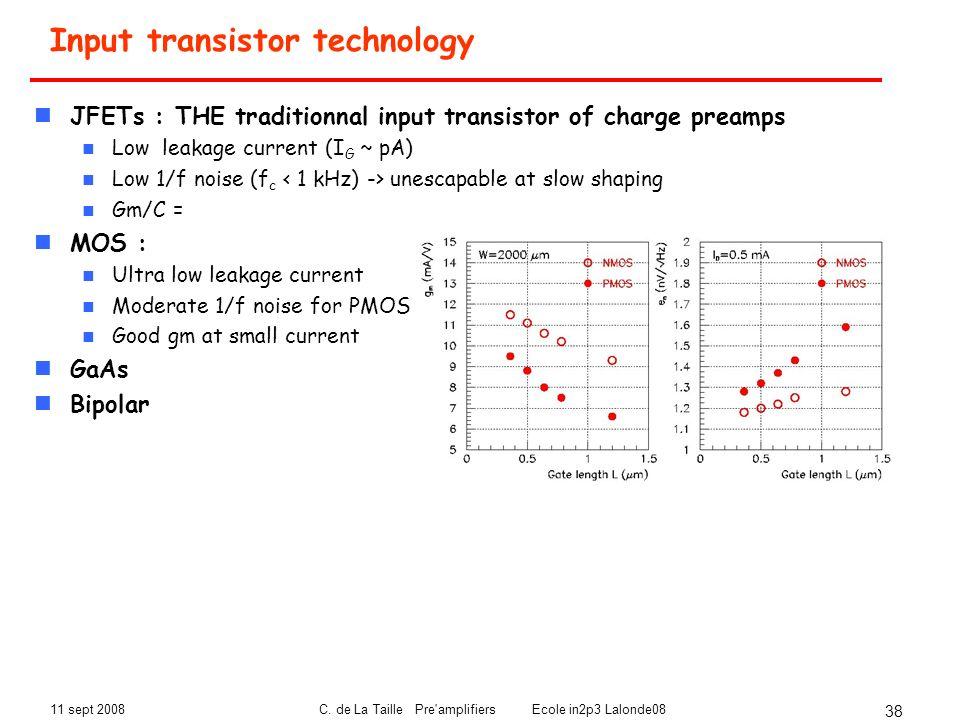 Input transistor technology