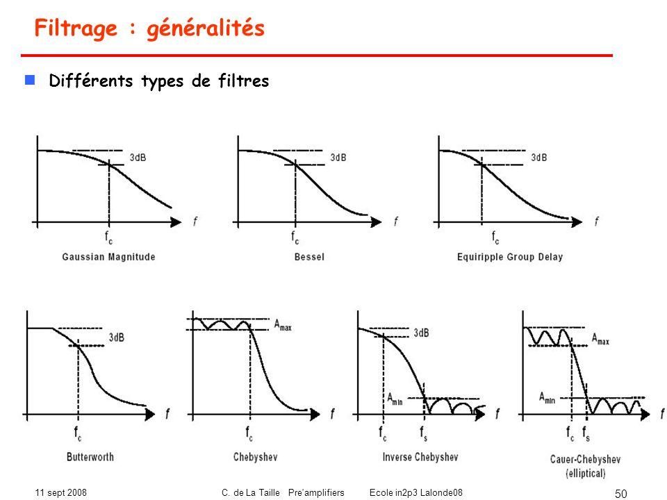 Filtrage : généralités