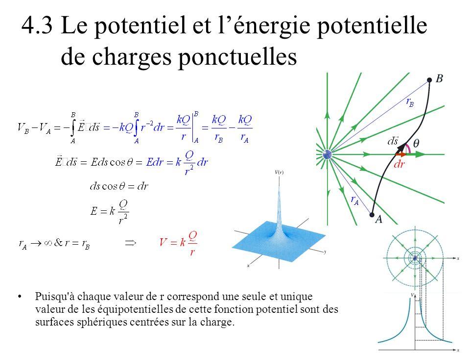 4.3 Le potentiel et l'énergie potentielle de charges ponctuelles