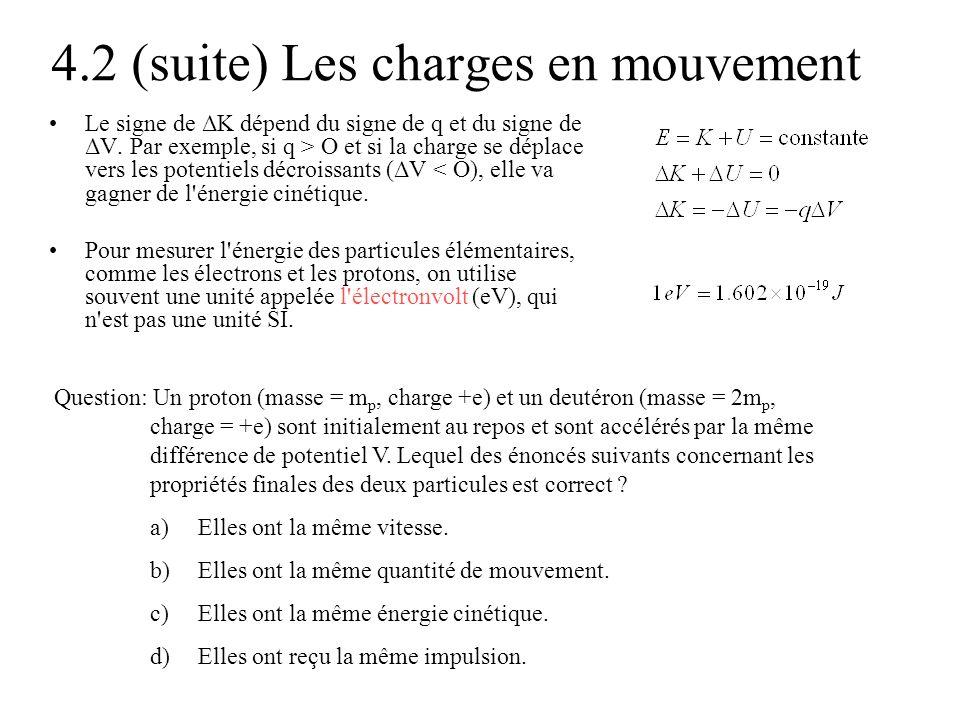 4.2 (suite) Les charges en mouvement