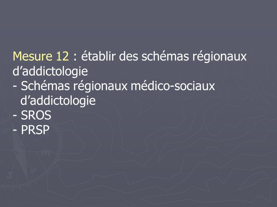 Mesure 12 : établir des schémas régionaux d'addictologie